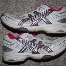 Size 9 Asics Gel Express White Silver Gray Pink Running Shoes Womens Women Nine Photo