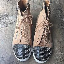 Size 9 Jeffrey Campbell Studded Tennis Shoes Women's Designer Sneakers Leather Photo