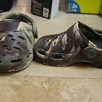 Size Infant-4 Boys Crocs Slip on Camouflage. Photo