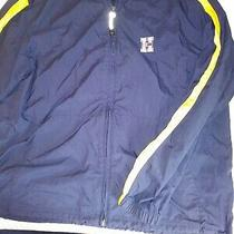 Size L 6/6 Tommy Hilfiger Windbreaker Jacket Yellow Blue Photo