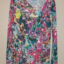 Size L Simply Vera Wang Bright Water Color Floral  Photo