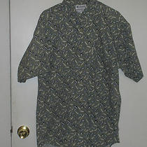 Size Large Columbia Green Fly Fish Fishing Shirt Mens Photo
