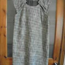 Size Medium 12-14 Gap Shift Dress Fully Lined Brown/white Photo
