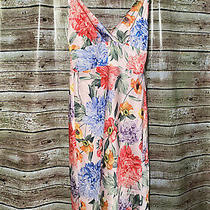 Size S  Express Dress Pink Floral Silky Slip Dress  New Photo