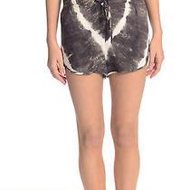 Size S Rory Beca Brown White Rayon Tie-Dye Dolphin Shorts W/drawstring Waist Photo