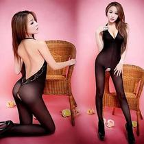 Size S to M Sexy Lingerie Erotic Fantasy Wear Backless Bodystocking H2076 Black Photo