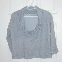 Size Small Gray Express Brand Cropped Sweatshirt Photo