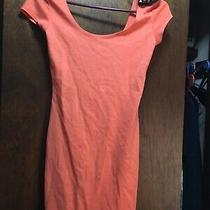 Size Small Sexy Charlotte Russe Bodycon Mini Dress Orange Spikes Studs Spikes Photo