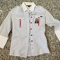 Size Xs Armani Exchange 3/4 Sleeve Button Up Photo