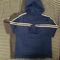 Size Youth Medium 10/12 Boys Adidas Hoodie Pullover Sweatshirt Blue Photo