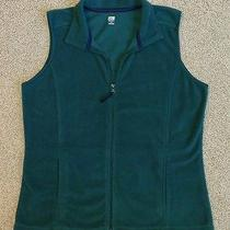 Sjb Active St. John's Bay Zip-Up Green Fleece Vest Womens Medium Free Shipping Photo