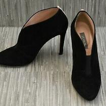 Sjp Sarah Jessica Parker Trois Suede Vamp Booties Women's Size 7 Black Photo