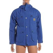 Sk 612 Carhartt Size Xl Dolphin Blue Carter Hooded Jacket Rrp 140 Photo