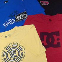 Skate Shirt Lot - Sz L Mens  - 4 Pc -  Billabong Quiksilver Element Dc Photo