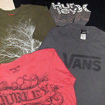 Skate Shirt Lot - Sz L Mens  - 4 Pc -  Hurley Vans Element Photo