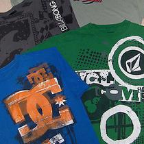Skate Shirt Lot - Sz M Mens  - 4 Pc - Billabong Quiksilver Element Dc Photo