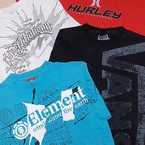 Skate Shirt Lot - Sz M Mens  - 4 Pc -  Hurley Billabong Element Vans Photo
