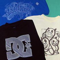 Skate Shirt Lot - Sz M Mens  - 4 Pc -  Quiksilver Billabong Element Dc Photo