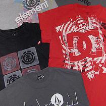 Skate Shirt Lot - Sz S Mens  - 5 Pc - Volcom Element  Dc Photo