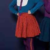 Skater Skirt Fr Raspberry Plum Size 7-8 Yrs (Excellent for