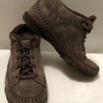 Skechers 49013 Totem Pole Chocolate Chukka Ankle Boots Size 8.5 Leather Upper Photo