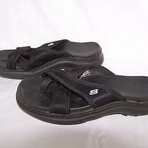 Skechers Black Sandals Textile Womens Size 6  Photo