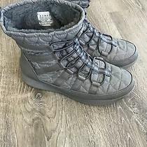 Skechers Boulder East Stone Sn49806 Boots Shoes Women's Size 8 Gray Waterproof Photo