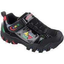 Skechers Boys' Damager Game Kicks Interactive Shoes 13 Black/blue Photo