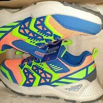 Skechers Boys Sneaker Shoe Turbo Spike Galvor Blue/orange/neon Green Size 11 Photo