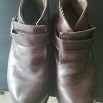 Skechers Brown Leather Boots (Bikerchopperranger) Buckle Strap for Mens Sz 9 Photo