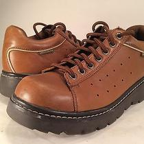 Skechers Brown Leather Rugged Sole Oxfords Womens 8.5 38.5 Shoes Boots Photo