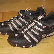 Skechers Brown/pink Incredible Elastika Walking Fashion Athletic Sneaker Shoes 5 Photo