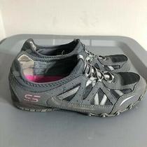 Skechers Bungee Bikers Women's Size 8.5 Shoes Slip on Gray/black Sneakers  Photo