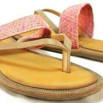 Skechers Cali Indulge Pink Brown Flip Flop Sandals Women's Size Us 8 M Photo