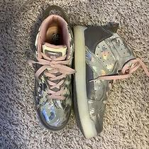 Skechers Energy Lights 2.0 Youth Size 6 Silver Pink No Charging Cord Untested Photo