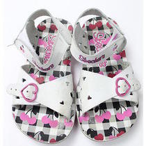 Skechers Girls/children/kids Velcro Sandal Shoes White/pink Sz 10 Photo