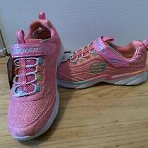 Skechers Girls Size 2 Pink Sneakers Nib Photo