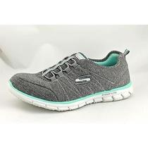 Skechers Glider - Electricity Womens Size 6.5 Gray Textile Sneakers Shoes Used Photo
