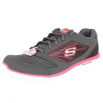 Skechers Glider-Jaguar Charcoal/coral Womens Sneakers Size 8.5 M Photo