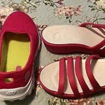 Skechers Go Walk 2 Crocs Sandals Hot Pink Size 8 Free Shipping Photo