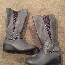 Skechers High Boots With Wedge Heel Girls Size 1 Photo