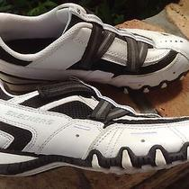 Skechers Leather Athletic Biking Shoes Velcro Womens 7.5 Photo