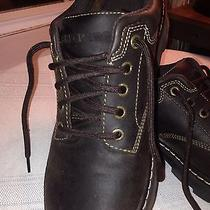 Skechers Leather Womans 9 Dark Brown Leather Photo