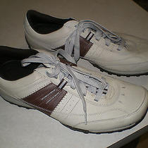 Skechers Lifestyle Tan/brown Leather Upper Lace Up Sneakers - Size 12 -  Photo