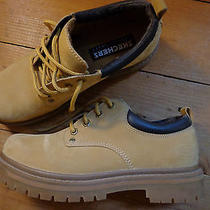 Skechers Low Top Work Hiking Boots - Wheat Leather - Mens 8 -  Photo