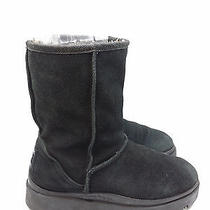 Skechers Outdoor Womens Size 7.5m Black Suede Leather Boots Photo