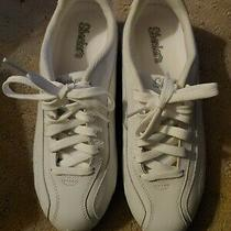 Skechers Shadows Quake 21249 White Lace Up Sneaker Shoes Womens Size 8.5 Photo
