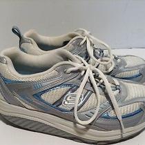 Skechers Shape-Ups 11814 Silver Blue Walking Toning Athletic Shoes Women Sz 8 38 Photo