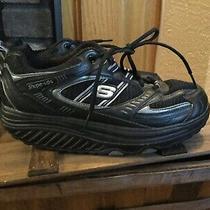 Skechers Shape Ups 11817 Black Rocker Toning Walking Sneakers Womens Size 10 Photo