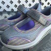 Skechers Shape-Ups Purple Colorful Velcro Strap Workout Shoes Mary Janes Sz 6 Photo